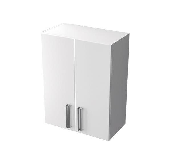 Шкаф навесной 60 белый, 2 двери, Ника